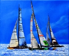 Dancing Sails Dancing Light artl by Dawn Lawrence art